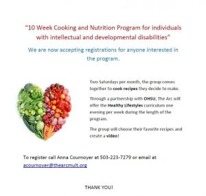 Join our Cooking and Nutrition Program!